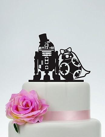 Wedding cake topperstar wars cake topperr2d2 bb8 cake topper wedding cake topperstar wars cake topperr2d2 bb8 cake topper acrylic junglespirit Gallery