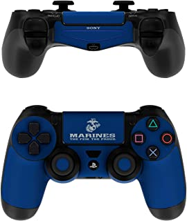 product image for USMC Blue - PS4 Controller Skin Sticker Decal Wrap (Controller NOT Included)