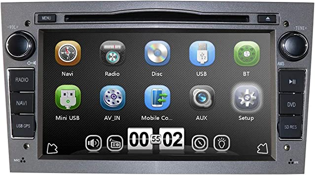 Grau 7 Zoll 2 Din Autoradio Moniceiver Dvd Player Für Elektronik