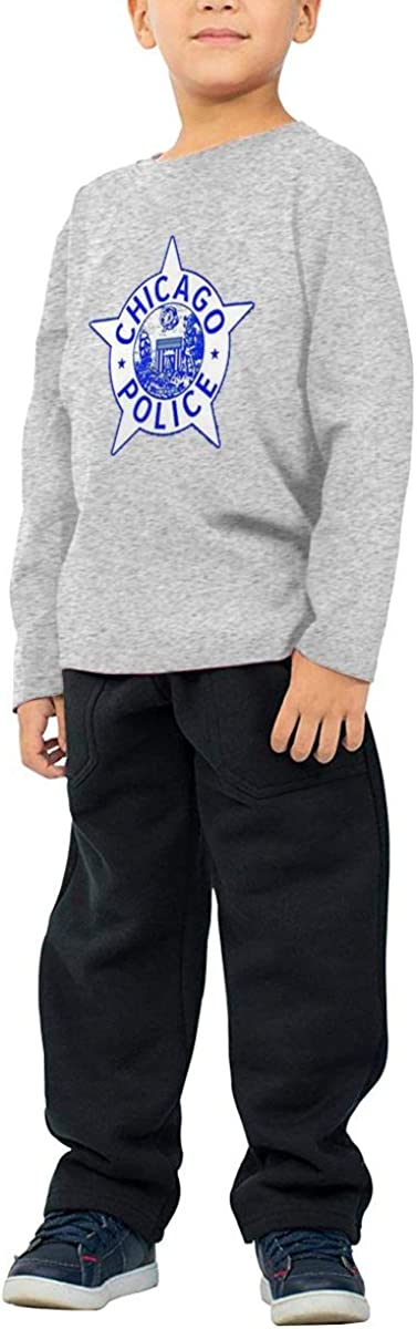 CY SHOP GoNewBee Chicago Police Childrens Boys Cotton Long Sleeve T Shirts
