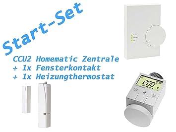 Start-Set HomeMatic – Central ccu2 + Calefacción Termostato + Contacto de ventana
