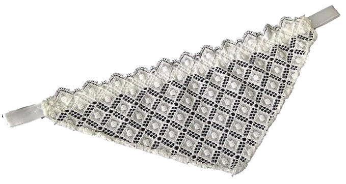 Sujetador de encaje insertar - decollete escote, diseño de diamante Blanco blanco S/M: Amazon.es: Ropa y accesorios