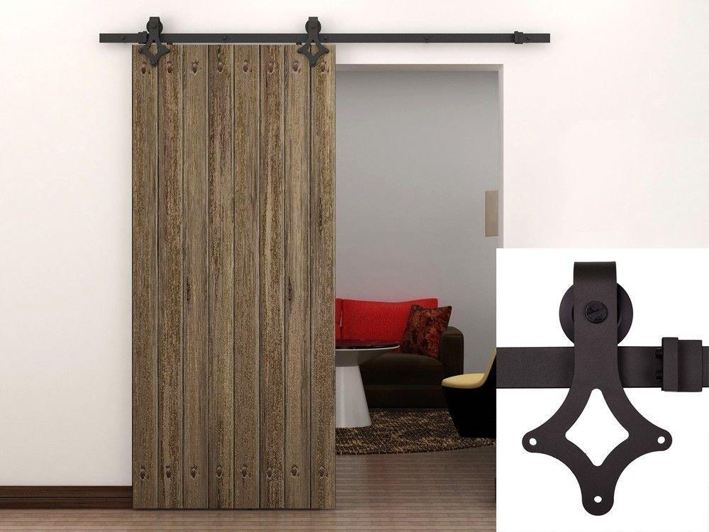 amazoncom tms barn wood sliding door hardware track closet set country antique home improvement