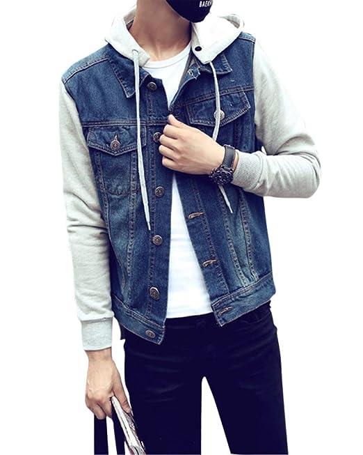 Giubbotto jeans con cappuccio