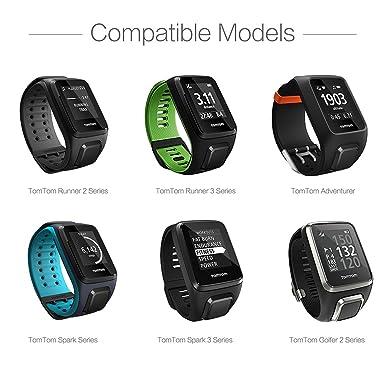 TUSITA Cargador para Tomtom Runner 2 3, Spark 1 3, Golfer 2 SE, Adventurer - Cable de Carga USB de 100 cm - Reloj Inteligente Accesorios