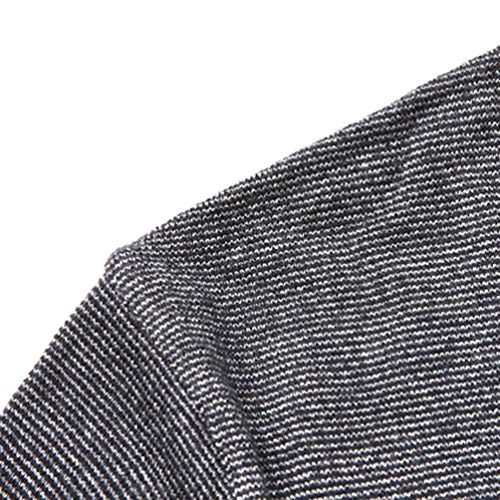 Redondo Larga Suéter Manga Jacquard Cuello Suave Cómodo Casual Pullover Yuanu Hombre De Punto Jersey Gris Moda tXwxR