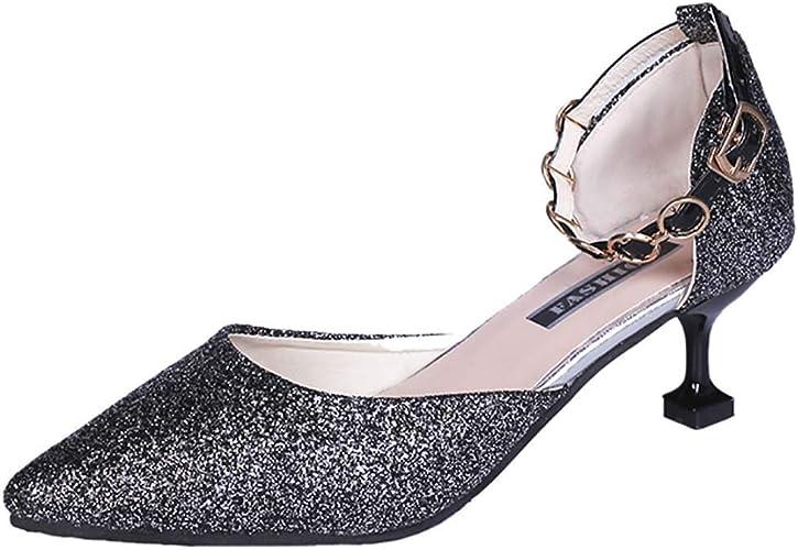 Women's Fashion Sparkly Ankle Strap