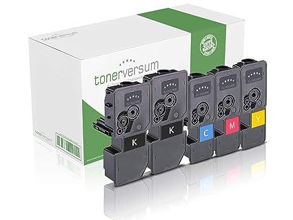 5 tóner compatibles con los cartuchos de impresora Kyocera TK-5240 negro cian magenta amarillo para Ecosys M5526cdn M5526cdw P5026cdn P5026cdw ...