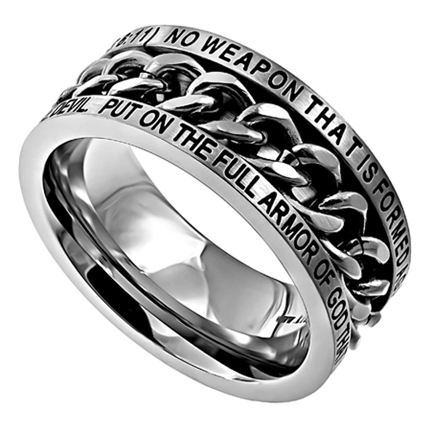 Amazon Isaiah 54 17 Ring and Armor of God Christian Bible