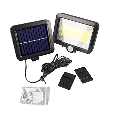 Outdoors 34 LED Wall Mount Solar Motion Sensor Light 3 Mode Bulb Induction Lamp