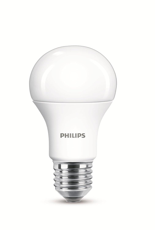 Philips bombilla LED estándar mate casquillo gordo E27, 11 W equivalentes a 75 W en incandescencia, 1055 lúmenes, luz blanca cálida: Amazon.es: Iluminación