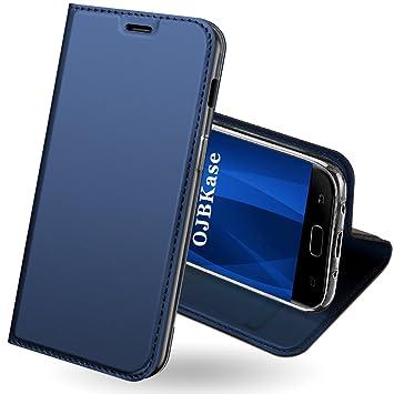 Funda Samsung Galaxy J3 2017,OJBKase Premium piel sintética Billetera Carcasa Protectora Cartera y Funda Cubierta interior TPU Protección De Cuerpo ...