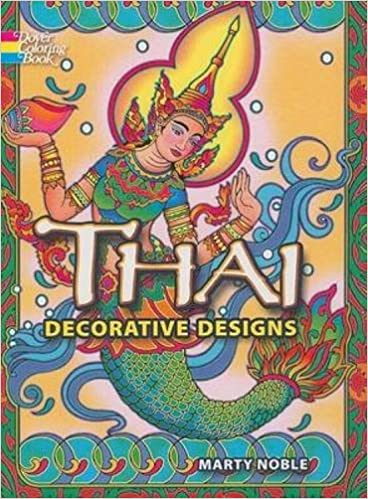thai decorative designs dover design coloring books