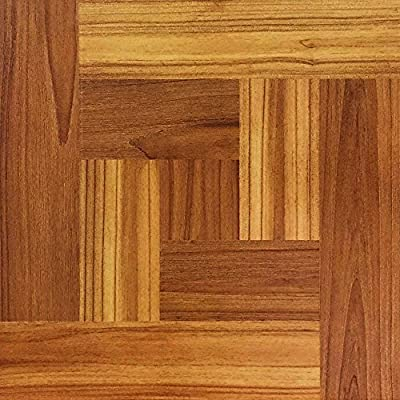 TrafficMASTER 12 in. x 12 in. Brown Wood Parquet Peel and Stick Vinyl Tile Flooring (30 sq. ft. / case)