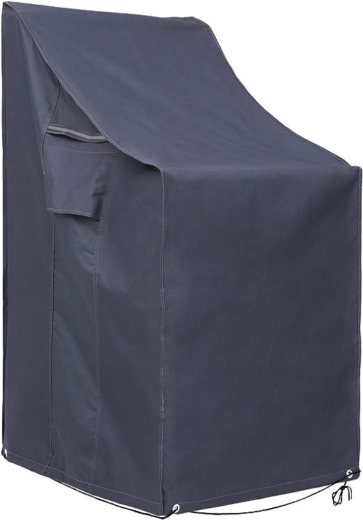 SONGMICS 600D Oxford Funda para Muebles Cubierta para sillas de jardín Resistente al Agua Proteger del Viento y de Rayos UV GFC95G: Amazon.es: Hogar