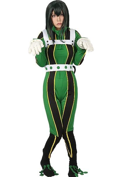 Amazon Com Xcoser Tsuyu Asui Costume Academia Cosplay