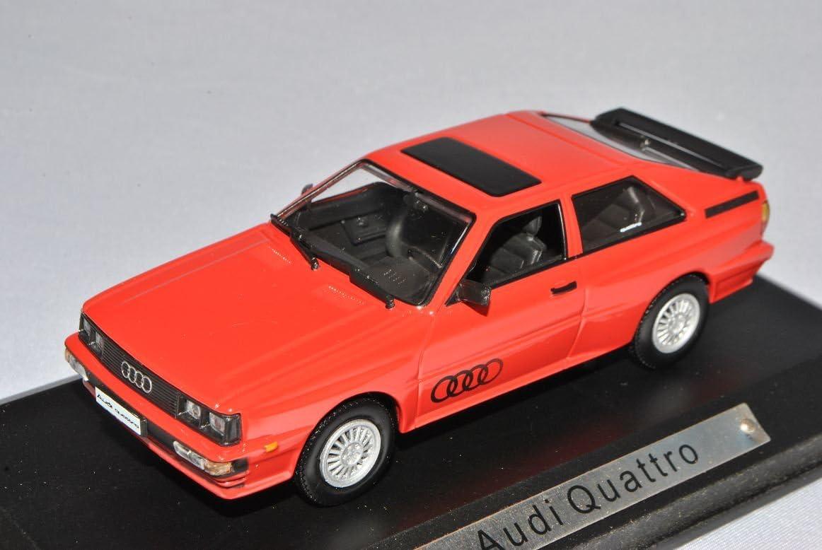 A-U-D-I Quattro Sport Rot Coupe 1//43 Atlas Modell Auto mit individiuellem Wunschkennzeichen