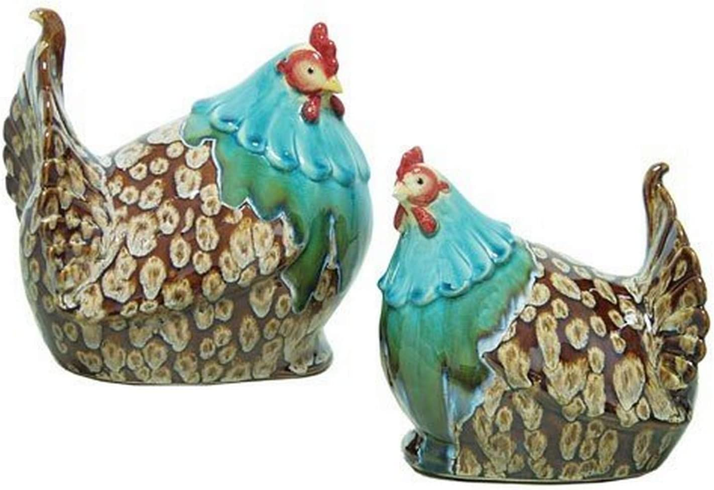 Set of 2 TIC Collection 24-694 Rooster Statues