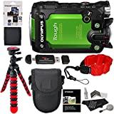 Olympus TG Tracker Stylus Tough Action Camera Green,Polaroid 32GB Micro SD With Adapter, Polaroid Floating Strap, Ritz Gear Tripod, Camera Case and Accessory Bundle