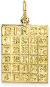 Mia Diamonds 14K White Gold Dove Charm 25mm x 15mm