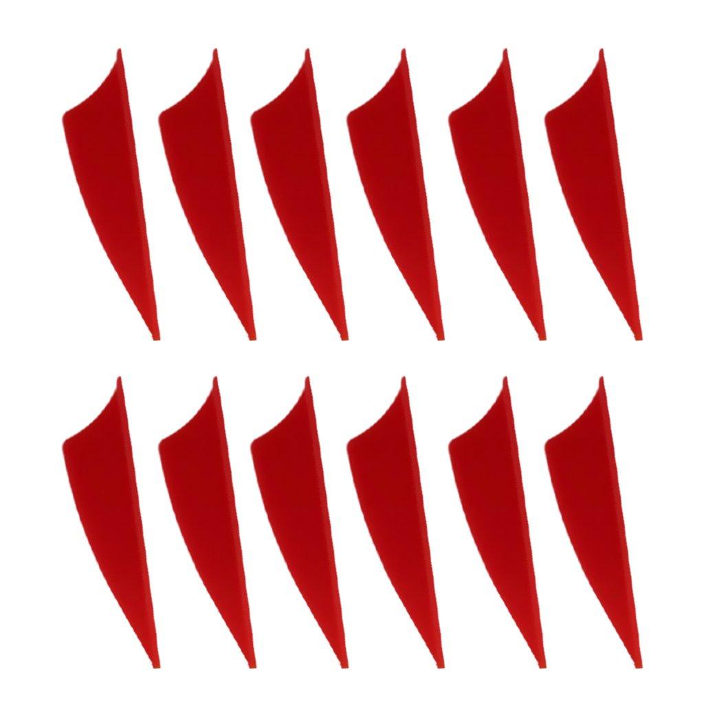 Tiro con arco Amarillo 12 Deportes y aire libre D DOLITY Plumas de Flecha Elasticó Accesorio de Deportes Multiusos de Practicá Fletchings Veletas de Flecha