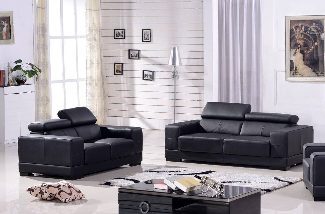 Ledersofa 3+2 Sofa Couch Sitzgarnitur Sofas Sitzgruppe 2017-3+2-S