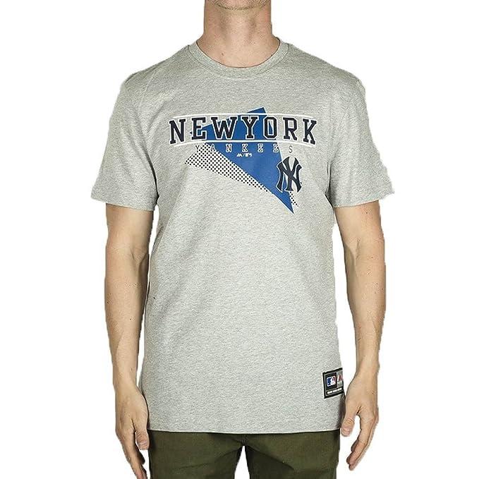 007f6de693f56 Majestic Camiseta MLB New York Yankees Alder Graphic Gris Talla  XS (X-Small