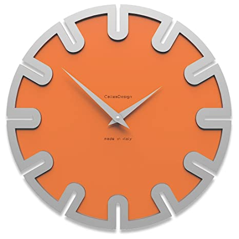 Reloj de pared digital Color naranja Roland 35 cm x 35 cm Made in Italy