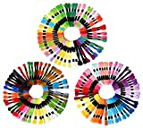 150pcs Popular color Embroidery Floss Cross Stitch Threads Friendship Bracelets Floss Mega Pack Approx. 8m per skein Various Colors …