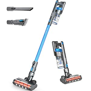 Cordless Vacuum Cleaner, LEVOIT Stick Handheld Lightweight Vacuum with 150W Powerful Suction for Hardwood Floor Pet Hair Carpet Car, Rechargeable Lithium Ion Battery and LED Brush