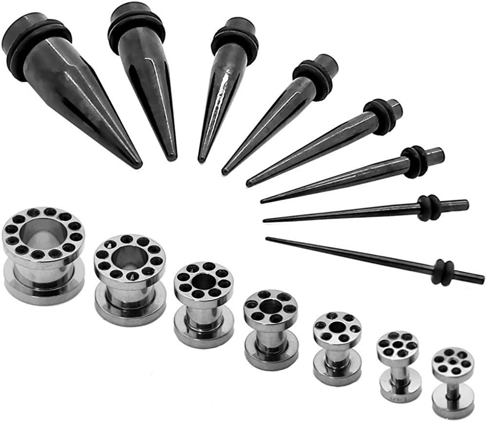 Kit Expansor Túnel Tunnel Plug Piercing y Kit Dilatador Taper ...