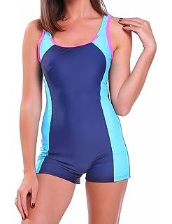 d355588f3e cross1946 Women Sports Boyleg One Piece Sports Swimwear Athletic Swimsuit  Swimming…