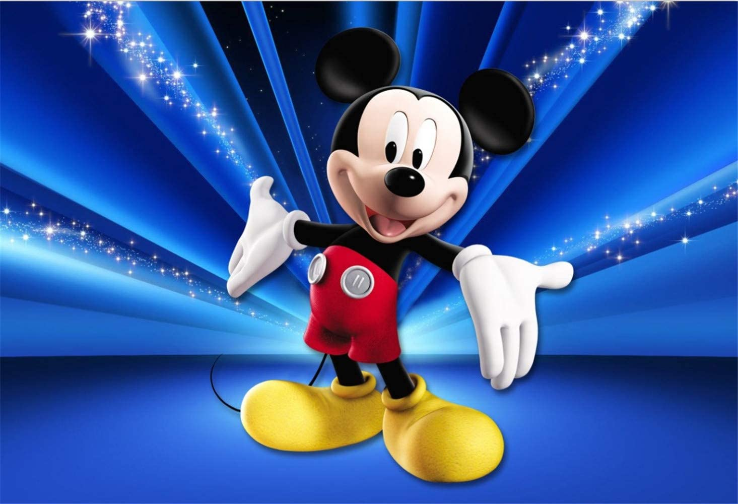 Birthday Background for Photobooth 7x5ft Mickey Mouse Photography Backdrop for Prince Baby Shower Backdrops for Party Custom Name