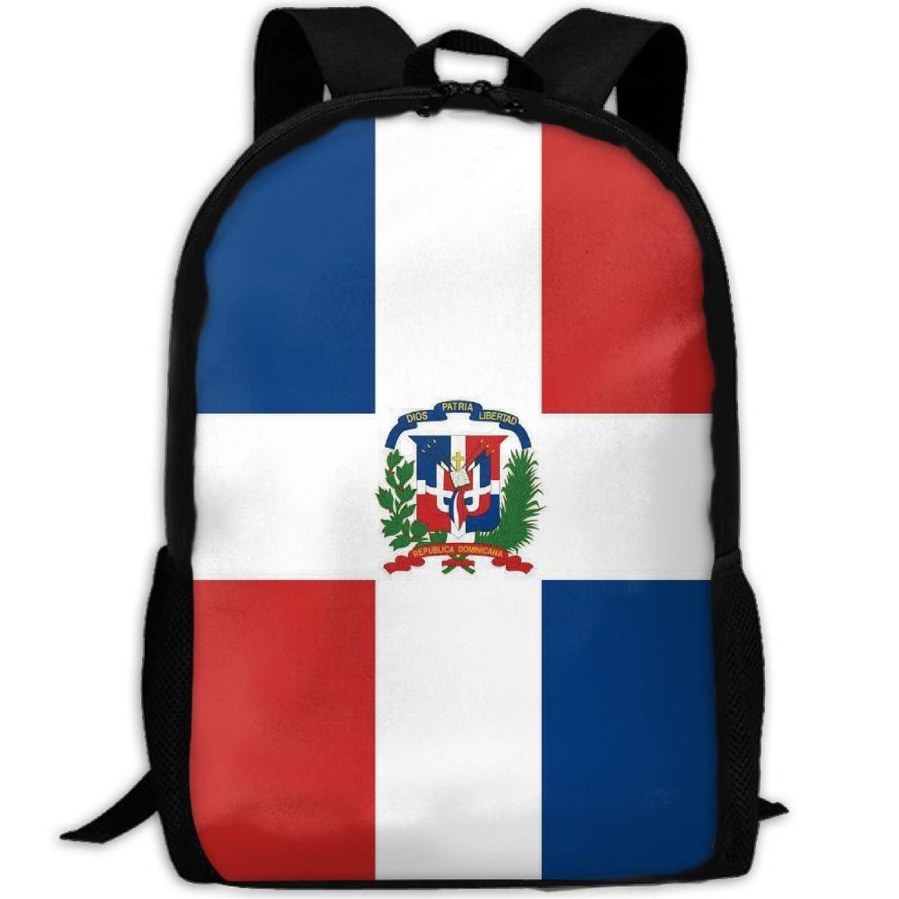 Dominican Republic Flag一意のアウトドア肩バッグファブリックバックパック多目的デイパック大人用   B0791BH713