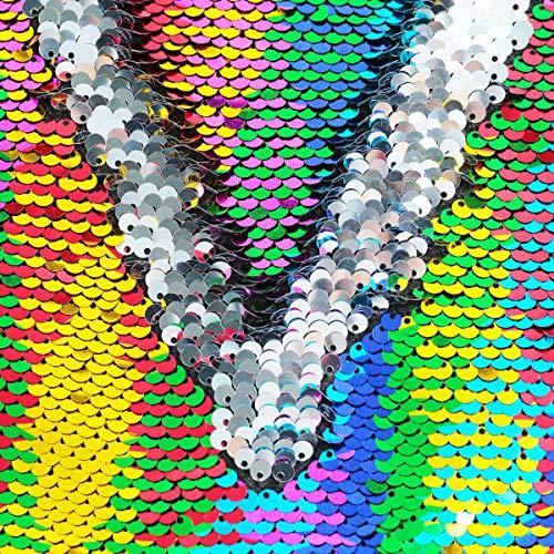 e2133b3e02fb Rainbow Sequin Drawstring Backpack Gym Dance Bags Mermaid Magic Reversible  Glitter Bag Unicorn Gift for Girls Daughter Boy Flip Sequin School Bag ...