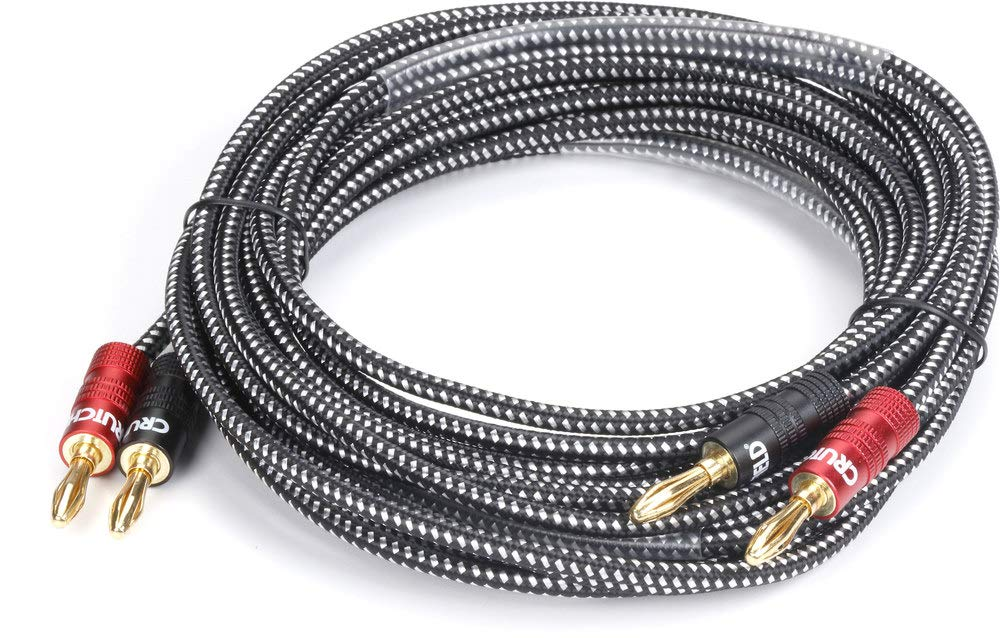 Crutchfield 14 Gauge Speaker Wire 10 Foot, 2 Conductors w/Banana Terminals