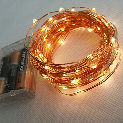 ZALAXIE Pack Of 2 Copper String Light 15M 150 Led 3 Aa Battery Operated Decorative String Fairy (Solar Str Light)