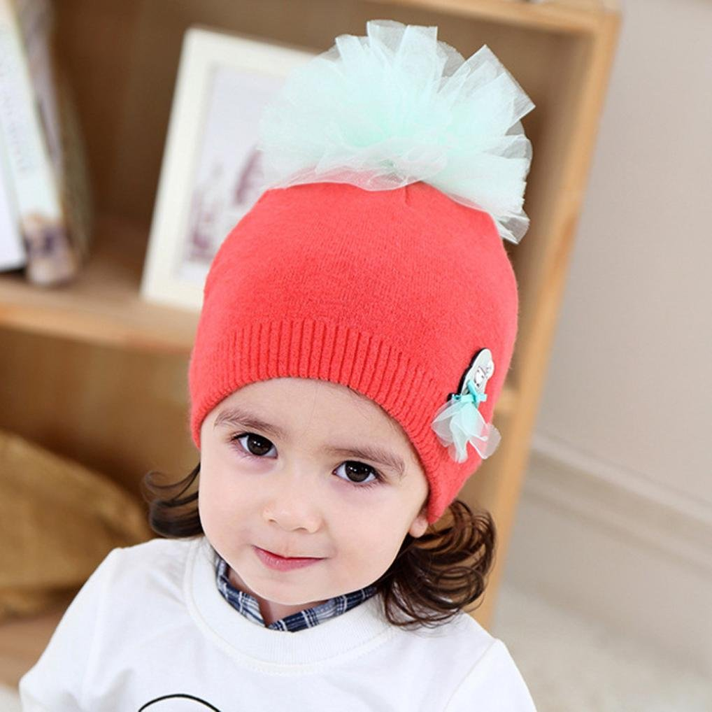 Suit for 2-18 Months Baby,DIGOOD Toddler Newborn Baby Girls Cute Floral Warm Knitted Hat
