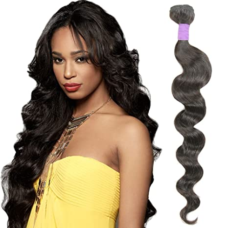9A Grade Loose Wave Brazilian Hair bundles Virgin Human Hair Extensions  Unprocessed Natural Black Hair weave 8d78402f7