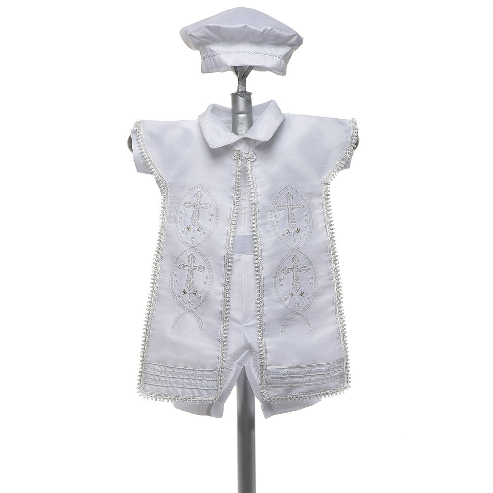 Amazon.com: Baptism Outfit for Boy, 4 Piece Christening Set ...