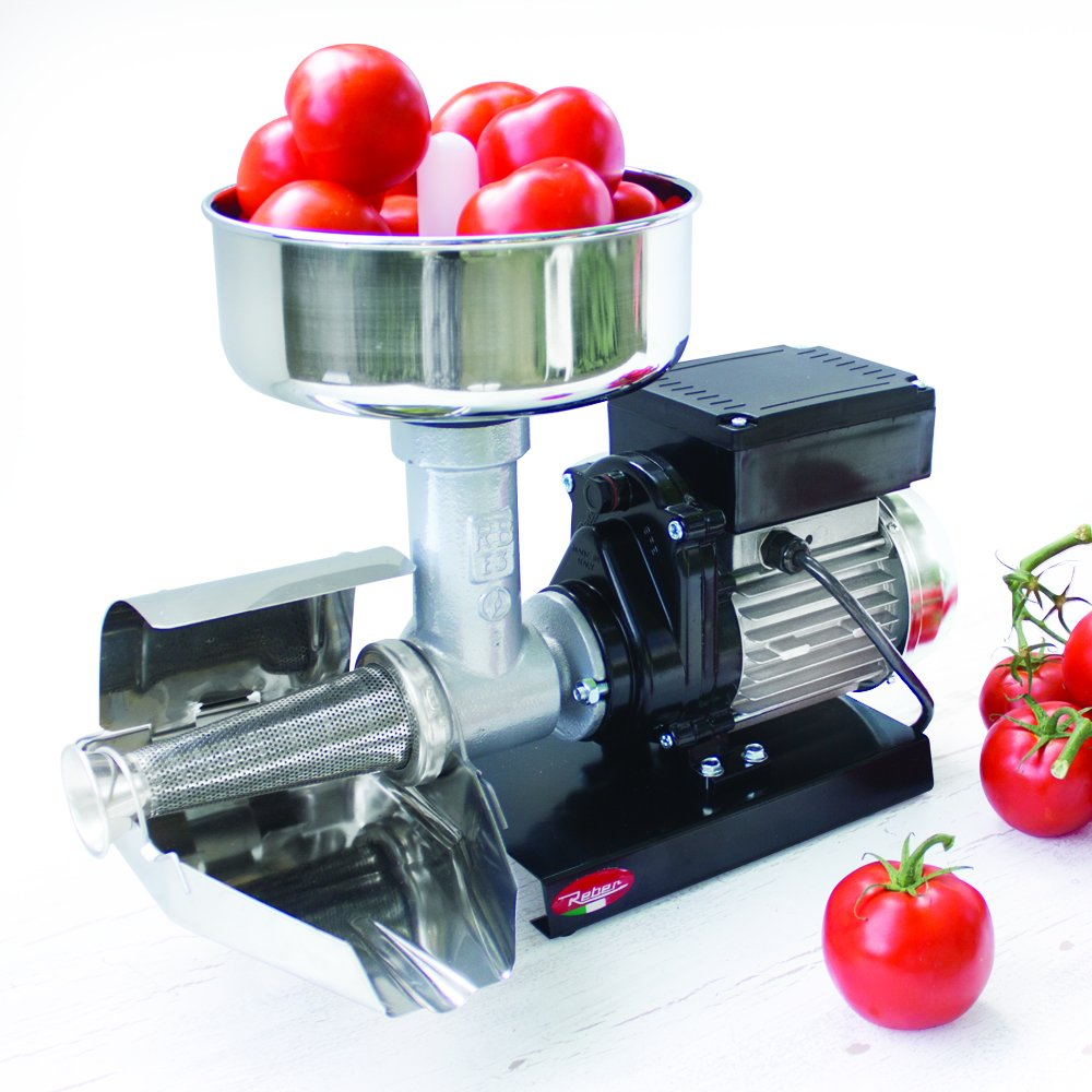 Raw Rutes - Electric Tomato Strainer Machine - Made in Italy - Perfect for Canning Tomato Purees, Sauces and More! (No. 3)