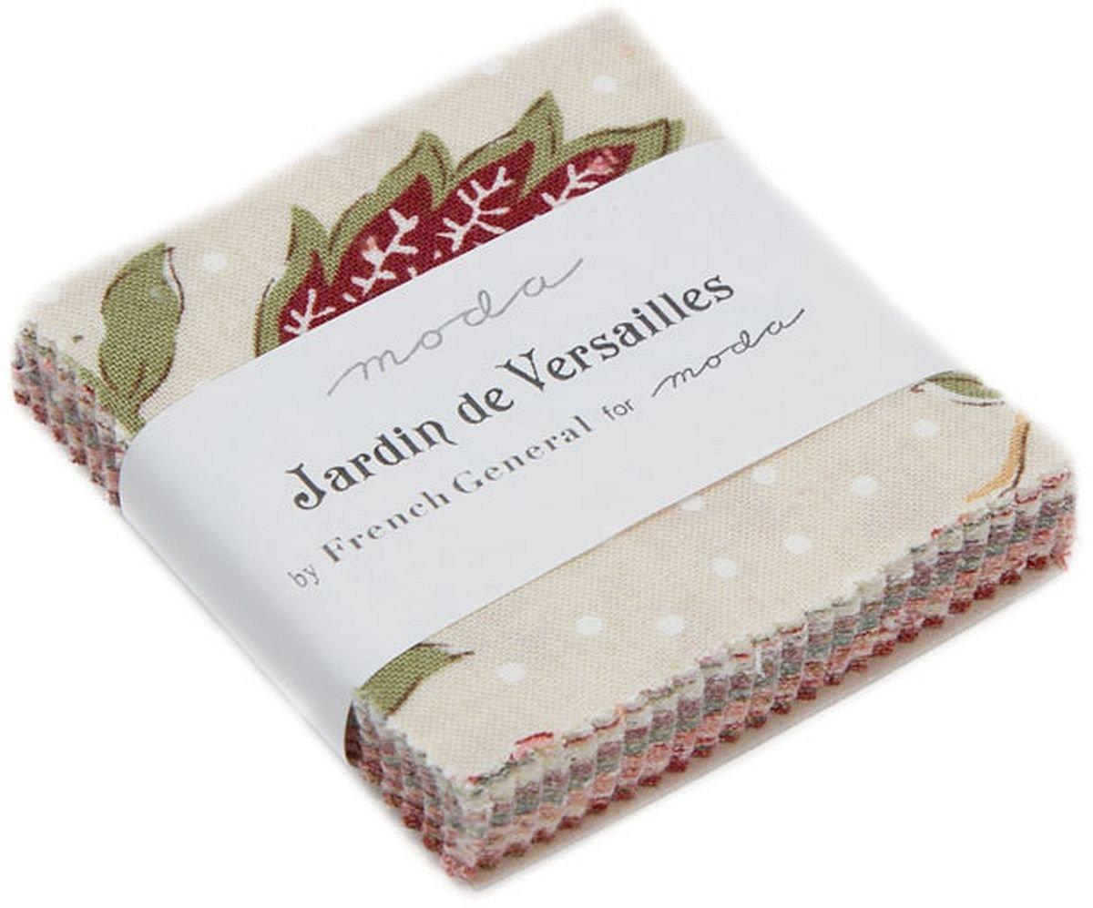 Jardin de Versailles Mini Charm Pack by French General; 42-2.5 Precut Fabric Quilt Squares