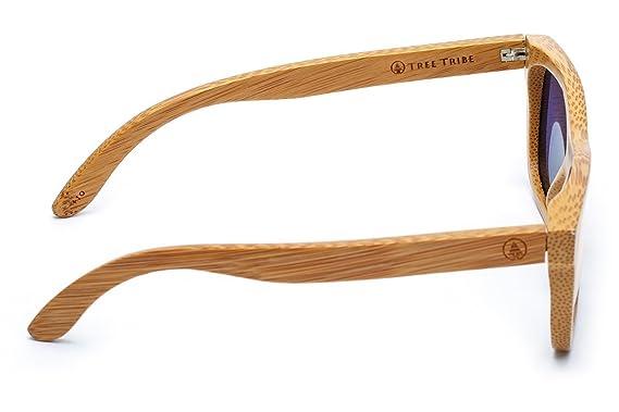 9ea0105575a Amazon.com  Tree Tribe Floating Bamboo Sunglasses with Polarized Lens -  Mirror Orange Lens  Sports   Outdoors