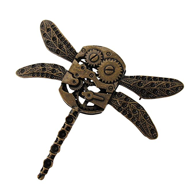 Steampunk Jewelry Steampunk Dragonfly Pin $7.95 AT vintagedancer.com