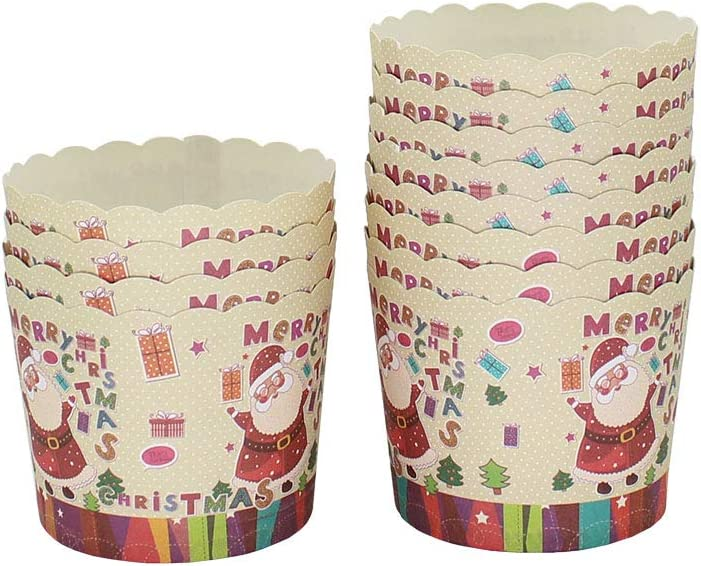 Style 1 Beiersi Christmas Santa Paper Cupcake Cases Muffin Baking Cups Pack of 24