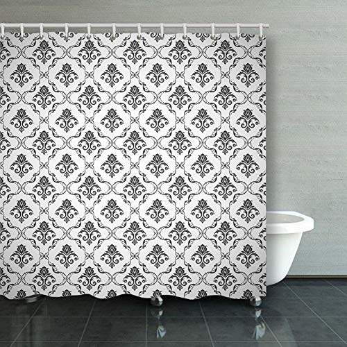 Shower Curtain Seamless Pattern Backgrounds Wallpaper Illustrations Clip Art Gift Ideas Polyester Fabric Hooks Included 60 X 72 Inch
