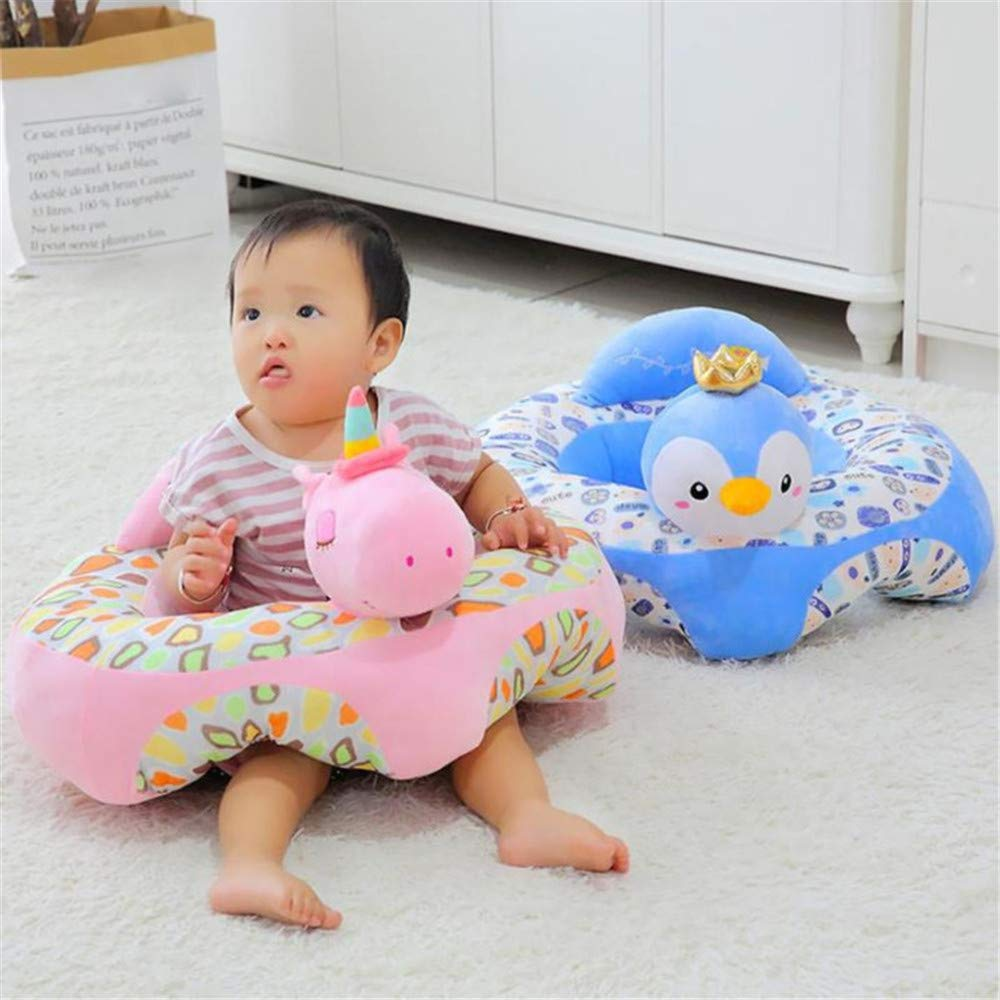 A Sofa Support Seat Cover,Floral Print Baby Support Seat Sofa Cover Animal Shaped Baby Learning to Sit Chair Keep Sitting Posture Comfortable for 0-12 Months Baby