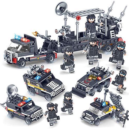 シティ特殊部隊ポリスカー4台セット合体サンダーコマンドパトカー レゴ (LEGO) 対応 互換の商品画像