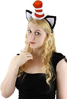 fc06635c809d5d Amazon.com: Costumes USA Dr. Seuss Cat in the Hat Cat Ears Headband ...