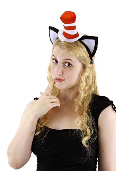 325f8098 Amazon.com: Elope Cat in the Hat, Hat Headband with Ears: Clothing